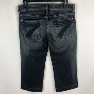 7 For All Mankind DOJO Crop Blue Jeans Women's
